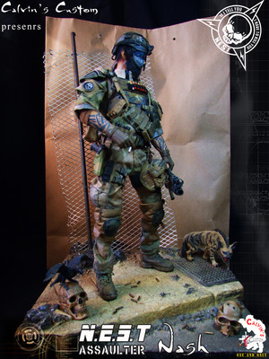 Calvin's Custom N.E.S.T Assaulter custom one sixth scale figure