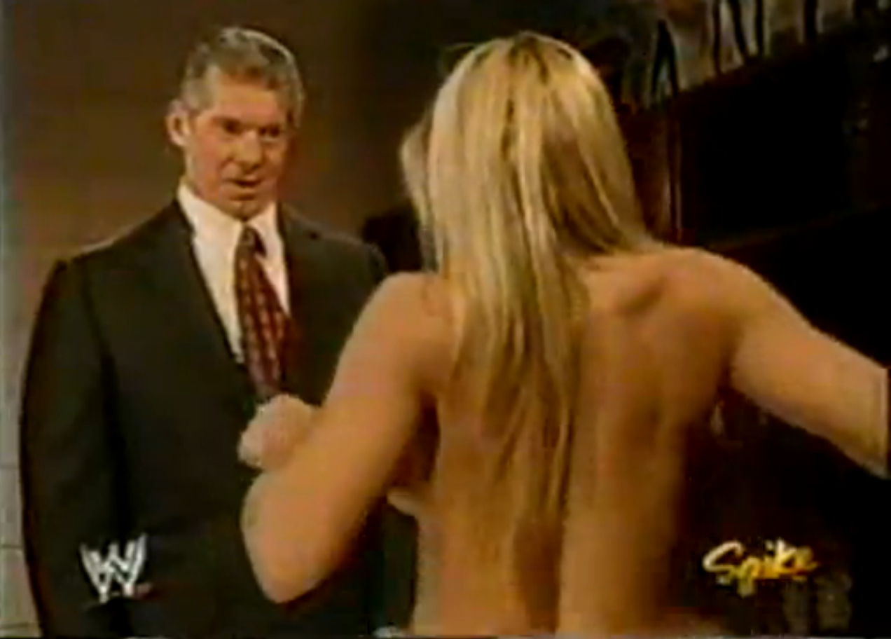 Trish Stratus - Nude, Backstage