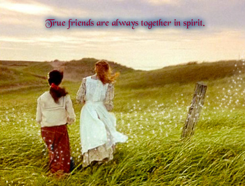 Anne of Green Gables wallpaper entitled True friends
