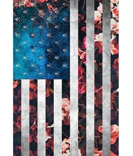 আমেরিকা দেওয়ালপত্র titled Grunge , Flag