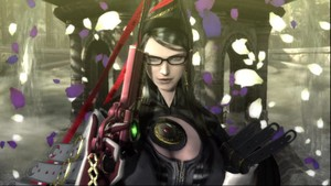 Bayonetta getting ready for action