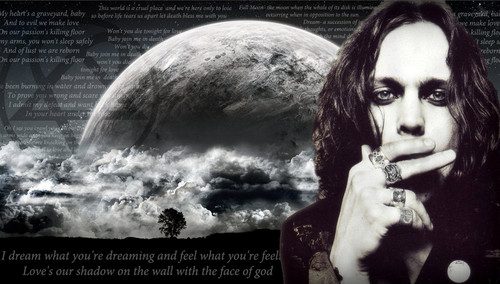 Ville Valo 壁纸 possibly containing a fountain, a sign, and a glory hole called ville_valo_dream_background