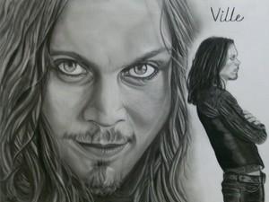 amazing Ville Valo portrait