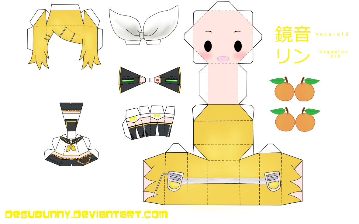 vocaloid images kagamine rin papercraft hd wallpaper and background