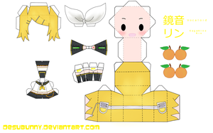 kagamine rin papercraft