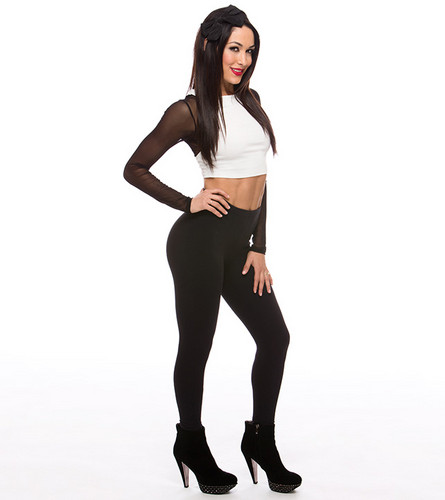 Diva WWE kertas dinding probably containing a legging, tights, and a pakaian bermain, playsuit titled Brie Bella