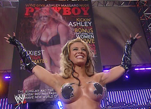 Ashley Massaro in playboy bunny pasties