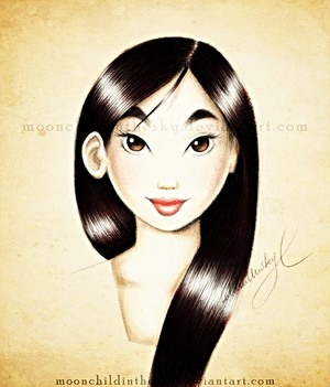 Walt Disney fan Art - Fa Mulan