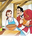 Walt Disney Book Images - Princess Belle & Gaston