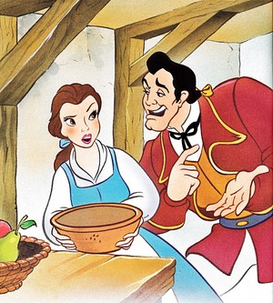 Walt Disney Book Images - Princess Belle & Gaston