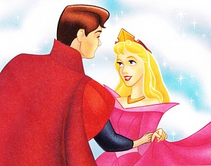 Walt Disney Book images - Prince Phillip & Princess Aurora