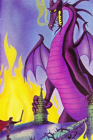 Walt Disney Book Images - Prince Phillip & Maleficent