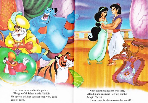 Walt Disney Characters wallpaper probably containing anime called Walt Disney Books - Aladdin 2: The Return of Jafar
