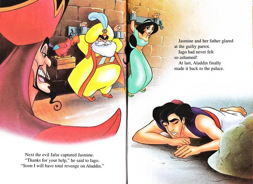 Walt Disney Characters wallpaper possibly containing anime entitled Walt Disney Books - Aladdin 2: The Return of Jafar