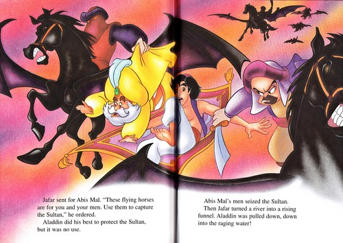 Walt Disney Characters wallpaper probably with anime entitled Walt Disney Books - Aladdin 2: The Return of Jafar