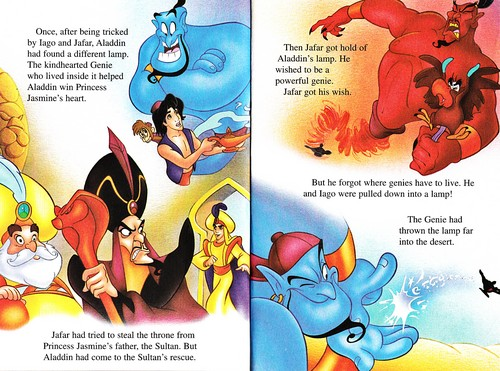 Walt Disney Characters karatasi la kupamba ukuta possibly with anime called Walt Disney vitabu - Aladin 2: The Return of Jafar