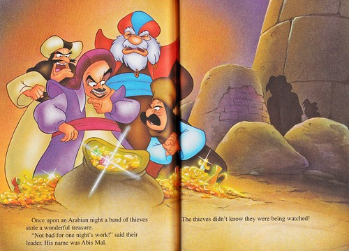 Walt Disney Characters wallpaper probably with anime titled Walt Disney Books - Aladdin 2: The Return of Jafar