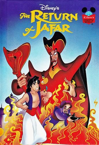 Walt Disney Characters karatasi la kupamba ukuta containing anime titled Walt Disney Book Covers - Aladin 2: The Return of Jafar