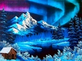 Northern Lights During the Winter Wallpaper - winter photo