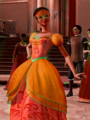 Viveca's gown in orange - barbie-and-the-three-musketeers fan art