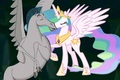 Pegasus X Princess Celestia - Flying Romance - disney-crossover photo