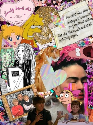 Pastel/collages