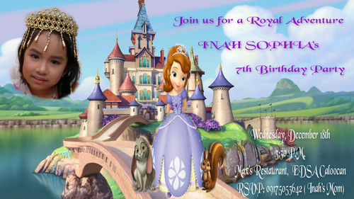 Sofia The First achtergrond entitled inah