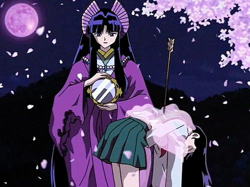 Inuyasha karatasi la kupamba ukuta with anime titled kaguya