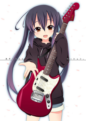 ऐनीमे girl गिटार