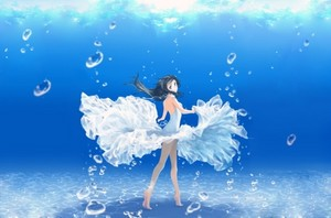 Water anime girl