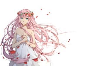 anime gir flower
