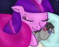 Sleeping Twilight whit Smarty pants - my-little-pony-friendship-is-magic-twilight-sparke fan art