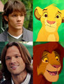 sam and simba - supernatural fan art