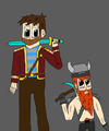 Lewis and Simon-Minelore Style - yogscast fan art
