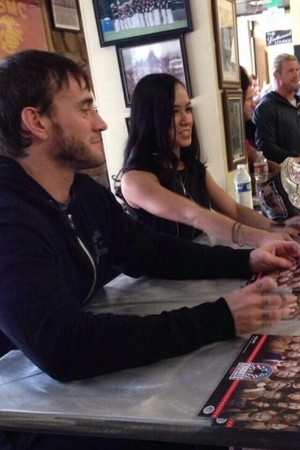 AJ Lee and CM Punk at Tribute to the Troops