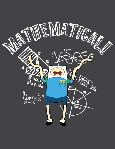 Adventure Time With Finn and Jake wallpaper probably with a sign entitled Mathematical!