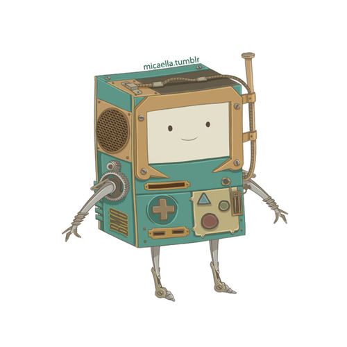 Adventure Time With Finn and Jake wallpaper titled BMO(steampunk armor)