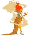 Flame Princess(steampunk armor)