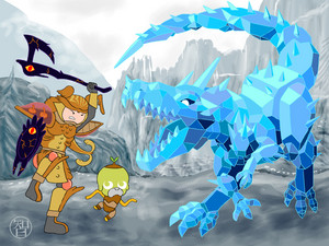 Finn and Jake vs an Ice Dragon