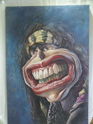 Aerosmith Hintergrund possibly with Anime called Brilliant Steven Tyler painting Ebay number - 261347409489