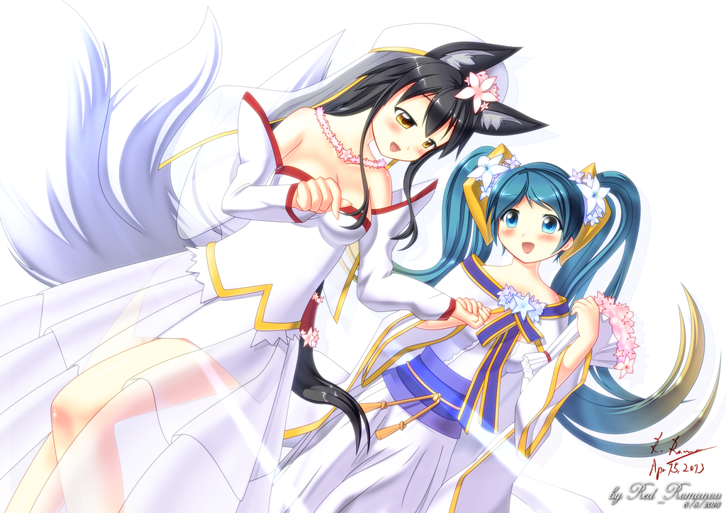 Ahri images Ahri and Sona HD wallpaper and background photos