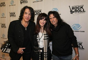 Paul Stanley with Sheryl and Alice Cooper December 5, 2013