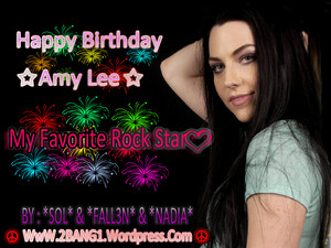 Happy Birthday Amy Lee, my favourite rock star!