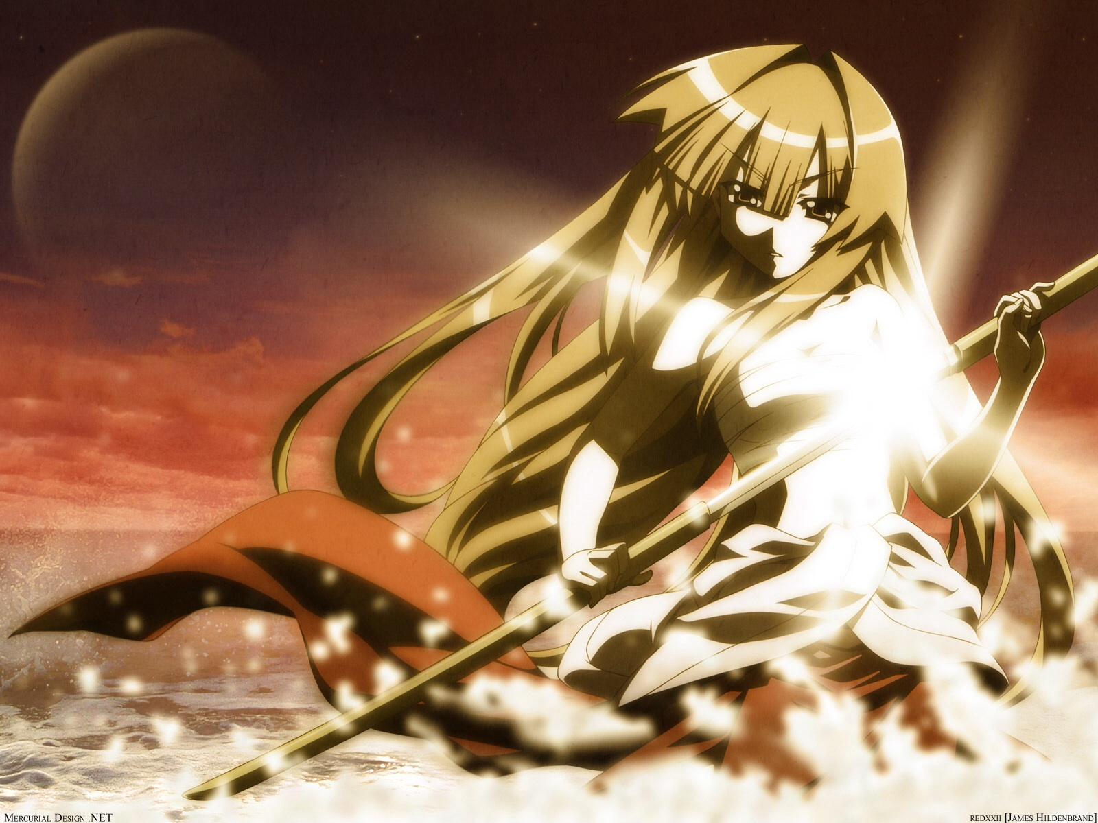 Sun Seto brandishing her sword