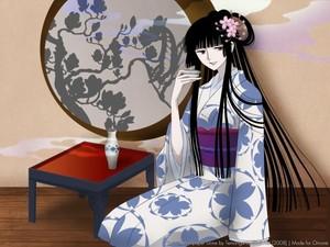 Yuko drinking sake