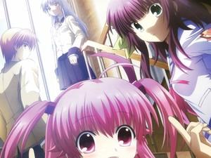 Angel Beats! - Otanashi, Kanade, Yurippe, and Yui