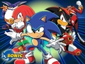 Sonic the Hedgehog and the gang from Sonic X - anime wallpaper