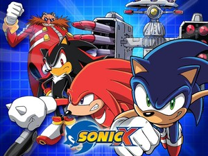 Sonic the Hedgehog and the gang from Sonic X