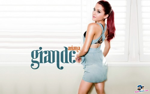 Ariana Grande karatasi la kupamba ukuta possibly containing a chemise and a portrait titled Ariana Grande