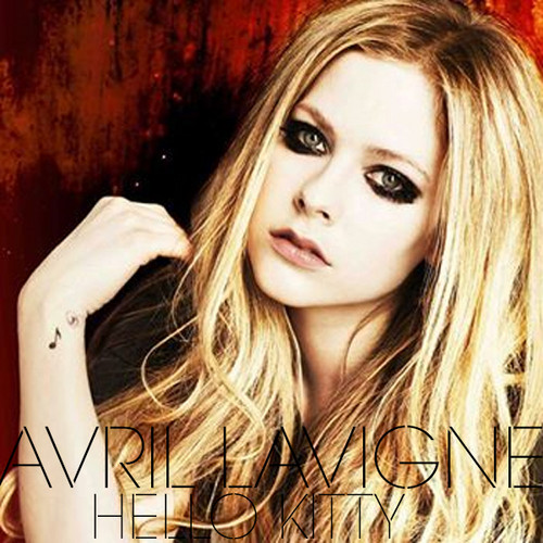 avril lavigne wallpaper containing a portrait and attractiveness called Avril Lavigne - Hello Kitty